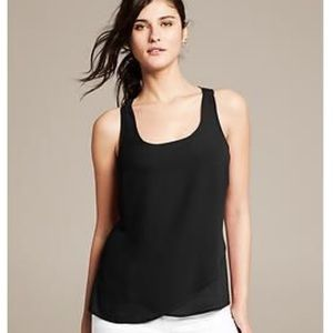 Banana Republic Black Racerback Cami/Tank Top